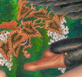 Kalmakoff Nicholas - Leda and the Black Swan - 1917 detail