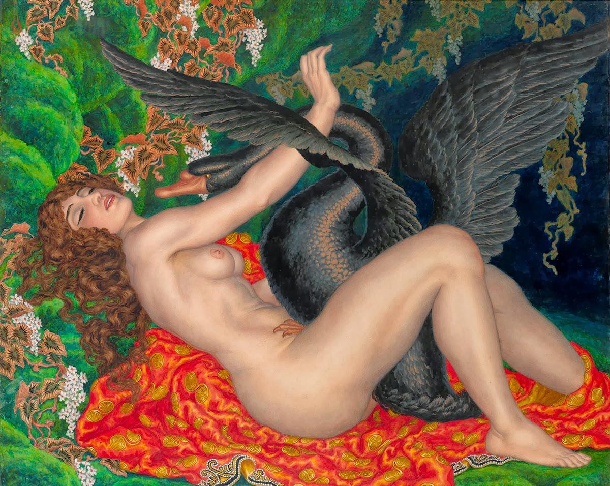 Kalmakoff Nicholas - Leda and the Black Swan - 1917