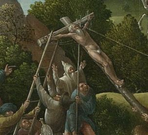 Le Calvaire Pseudo Jan Wellens de Cock, Leiden, vers 1520, Rijksmuseum, Amsterdam Bon larron grand