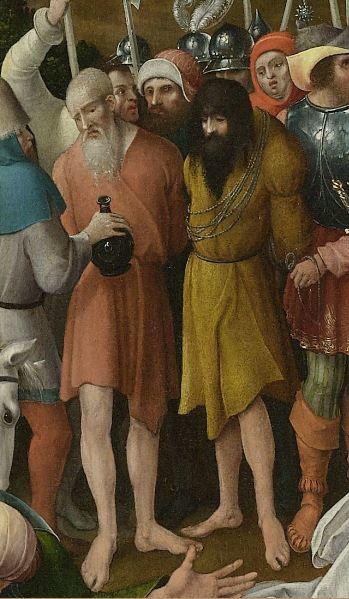 Le Calvaire Pseudo Jan Wellens de Cock, Leiden, vers 1520, Rijksmuseum, Amsterdam Deux Larrons