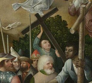 Le Calvaire Pseudo Jan Wellens de Cock, Leiden, vers 1520, Rijksmuseum, Amsterdam Deux croixJPG