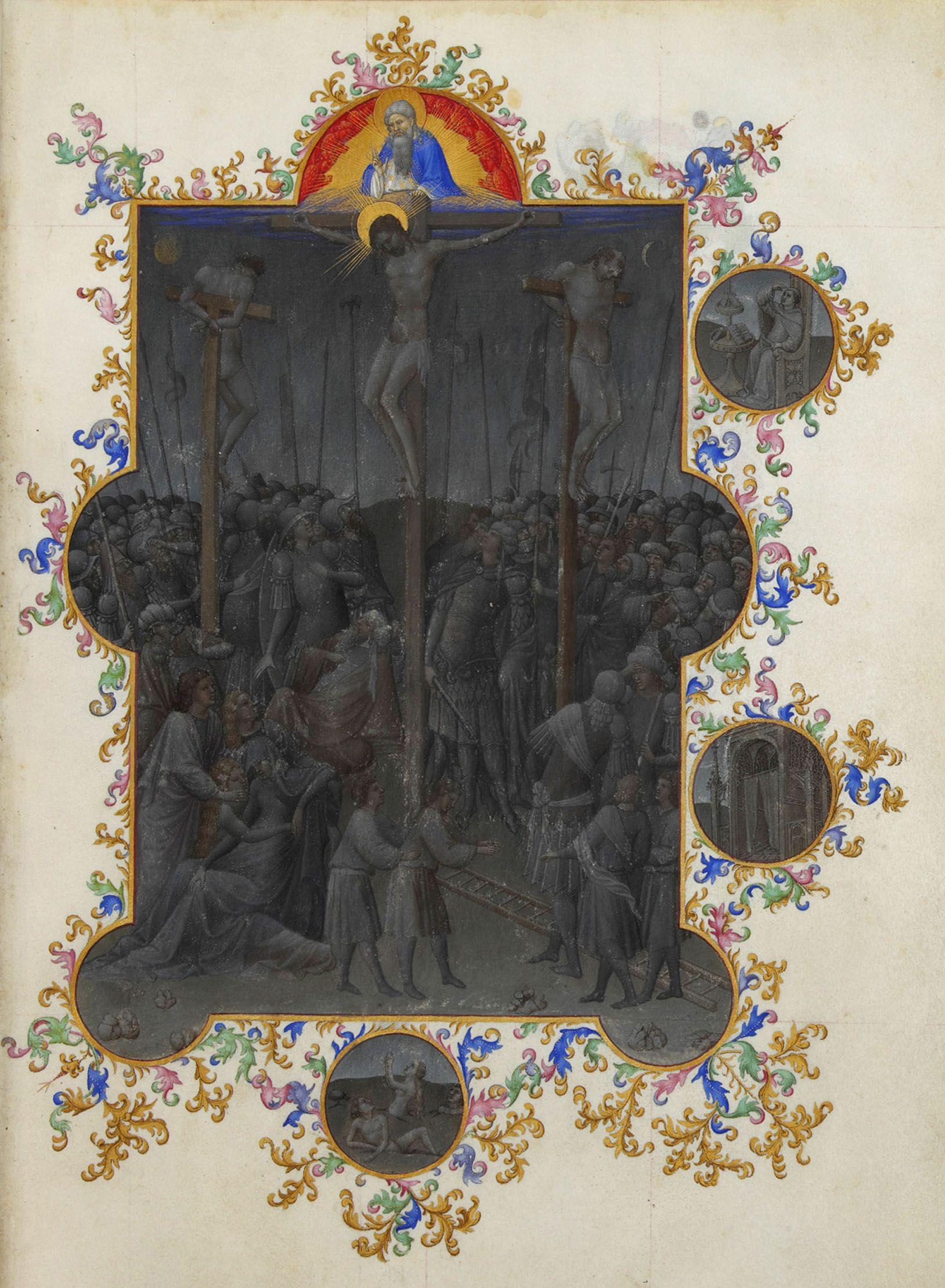 Les-Tres-Riches-Heures-du-duc-de-Berry-mort-du-christ-Musee-Condé-Chantilly-Ms.65-f.153r-1411-1416