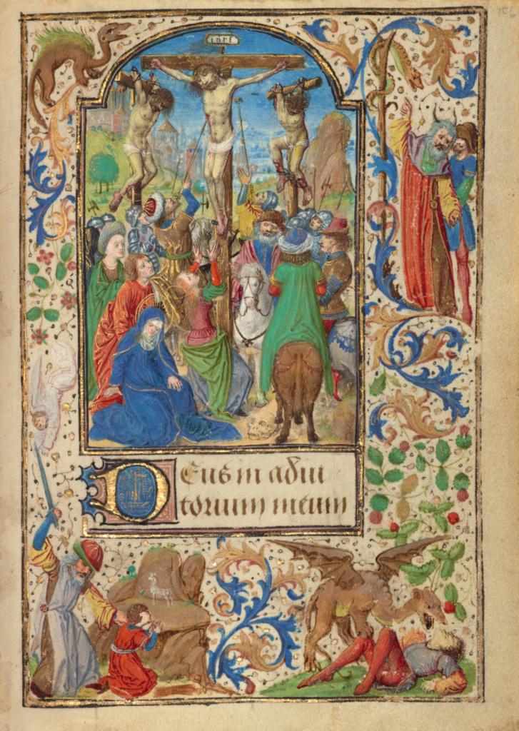 Lieven van Lathem The Crucifixion, 1471 ca Getty Museum, Los Angeles, Ms. 37, fol. 106