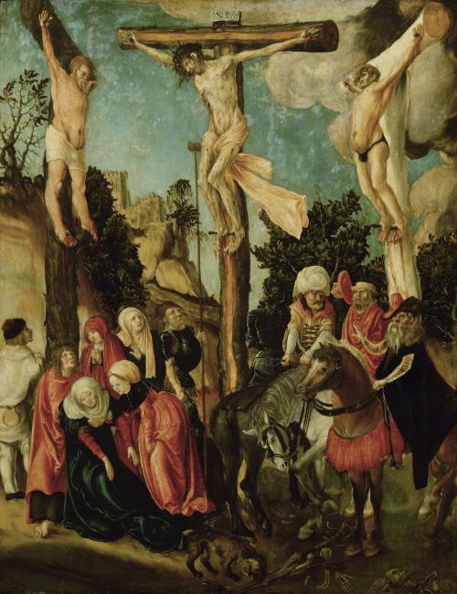 Lucas_Cranach_._-_Kreuzigung_Christi_1500-1501(Kunsthistorisches_Museum_Wien)