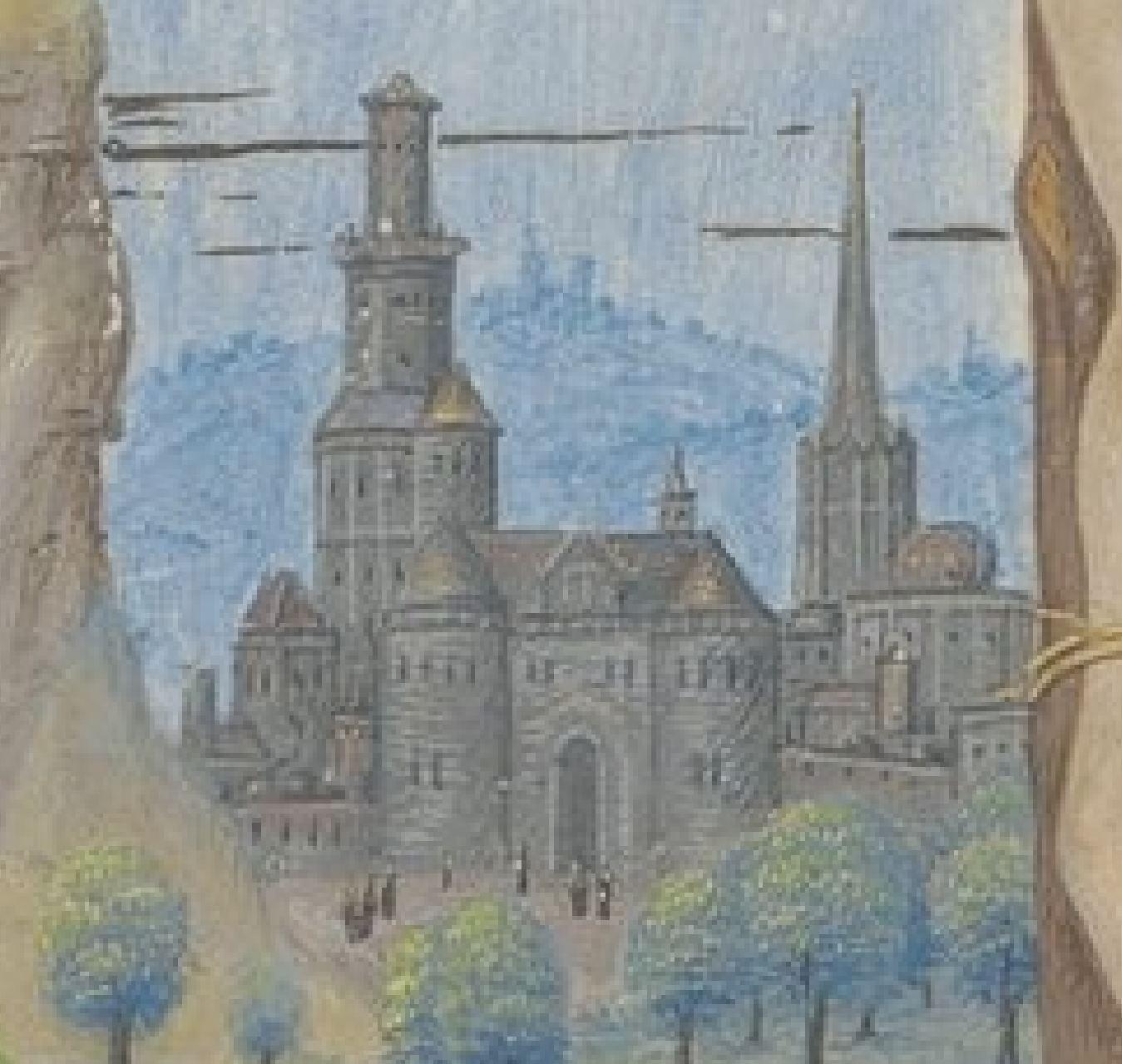 Maitre d'Antoine Rolin Heures de Boussu, 1490-96 BNF Arsenal. Ms-1185 réserve fol 198v Gallica detail