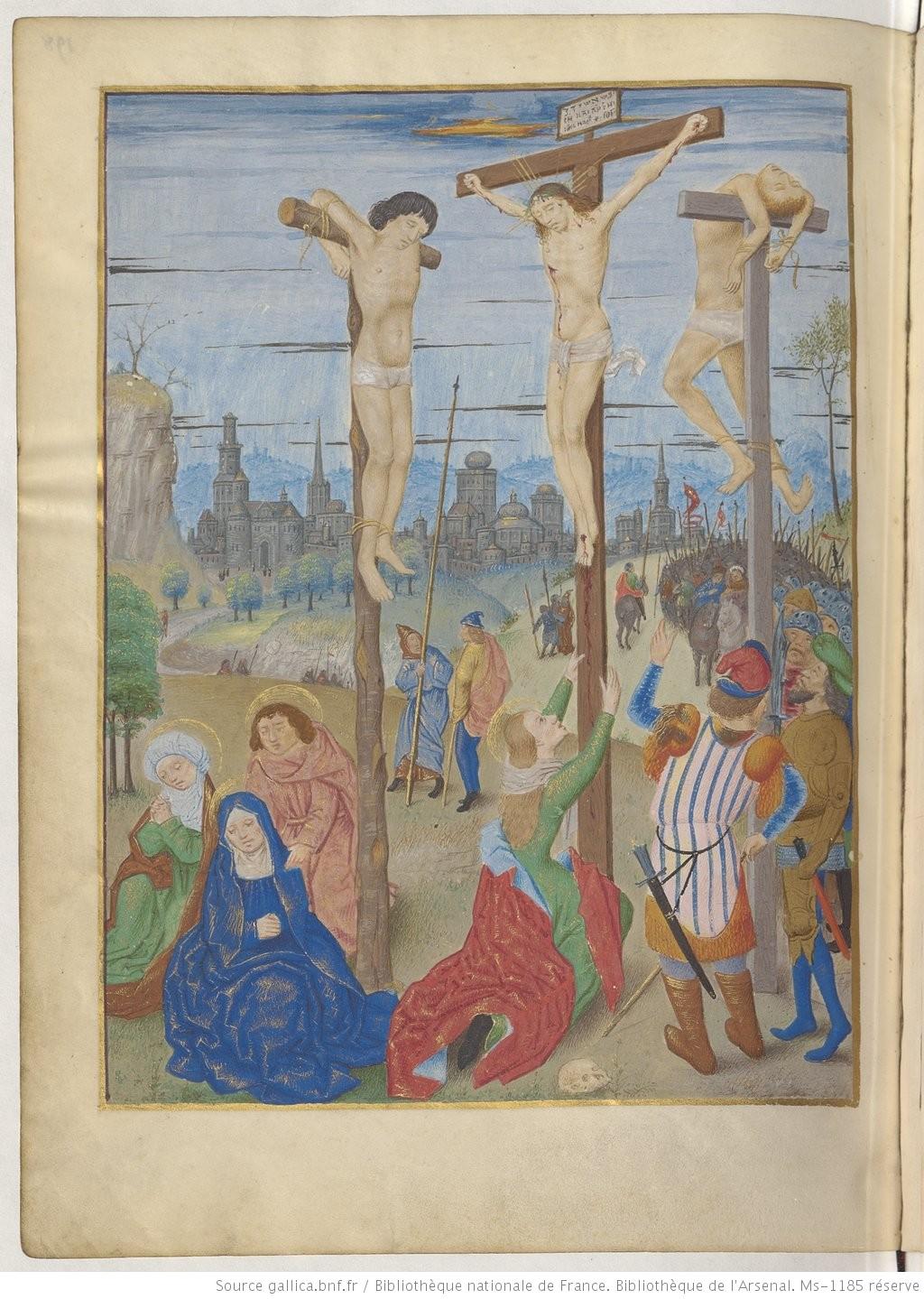 Maitre d'Antoine Rolin Heures de Boussu, 1490-96 BNF Arsenal. Ms-1185 réserve fol 198v Gallica
