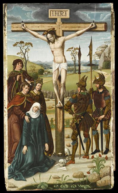 Maitre de Rio Frio (16e s.) Retable de saint Martin - La Crucifixion Musee Goya castres