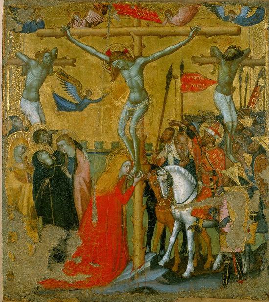 Maitre de la croix des Piani d'Ivrea, Crucifixion 1320 à 1345 Tours, Musee des Beaux-Arts