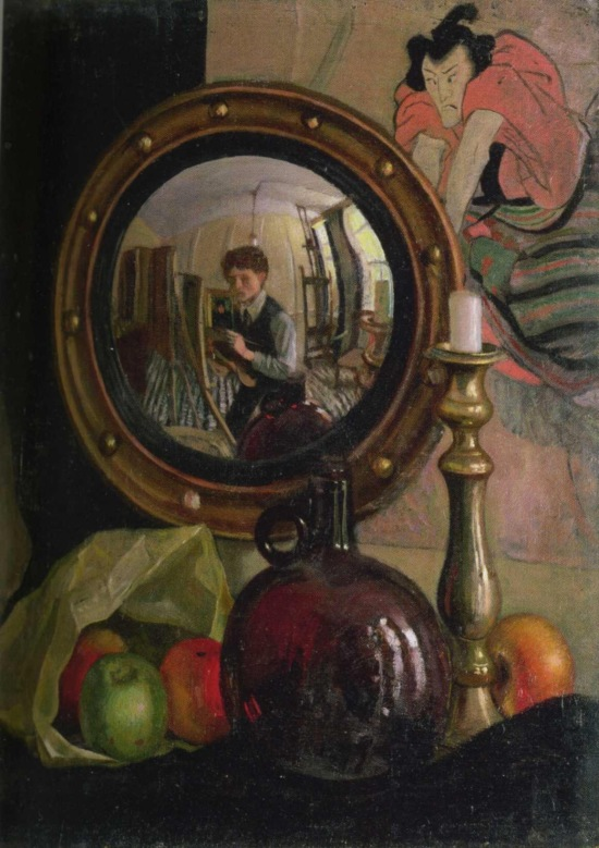 Mark Gertler Still Life with Self Portrait 1918