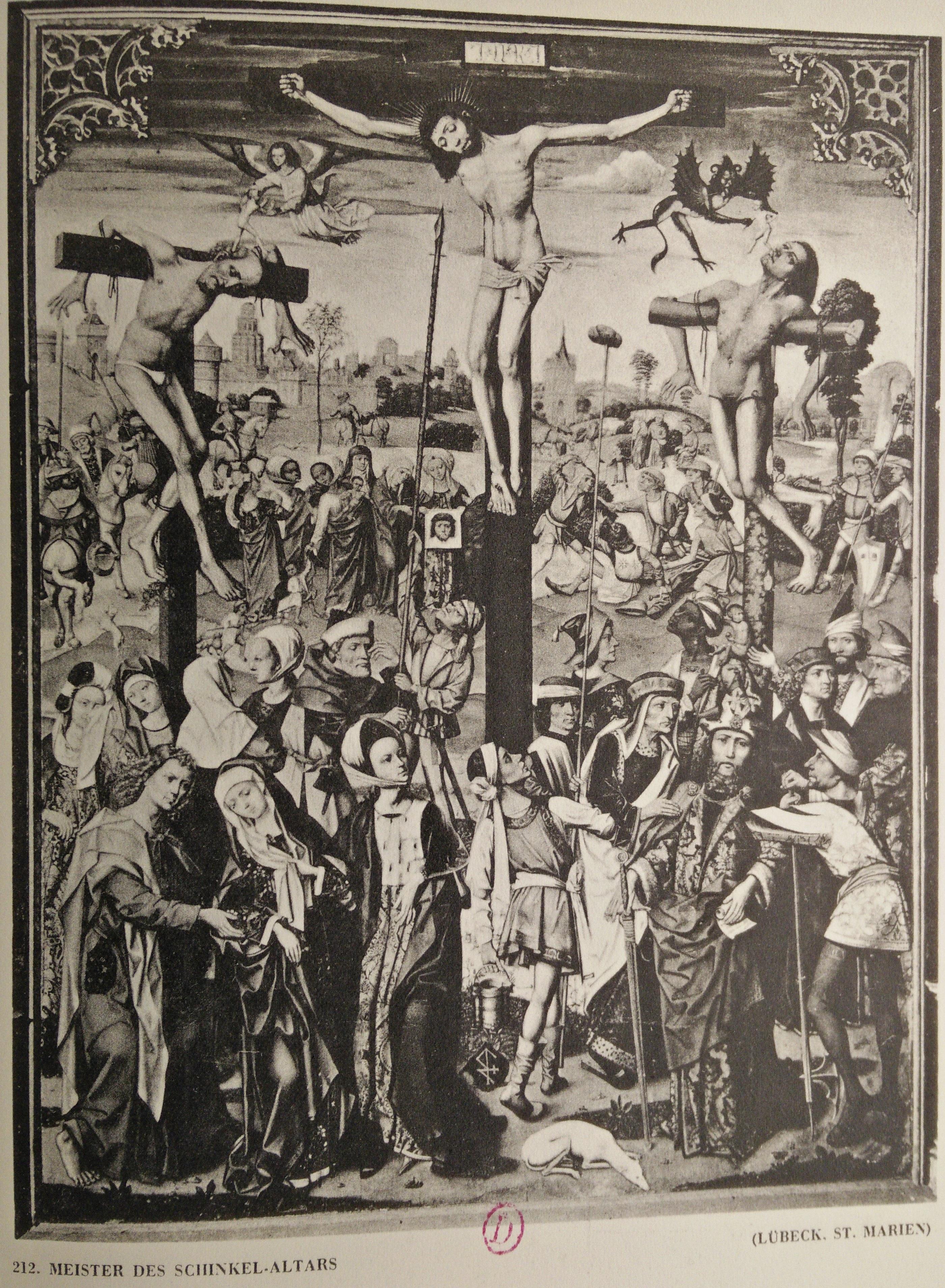 Meister des schinkel altars 1501 Lubeck St Marien detruit en 1942