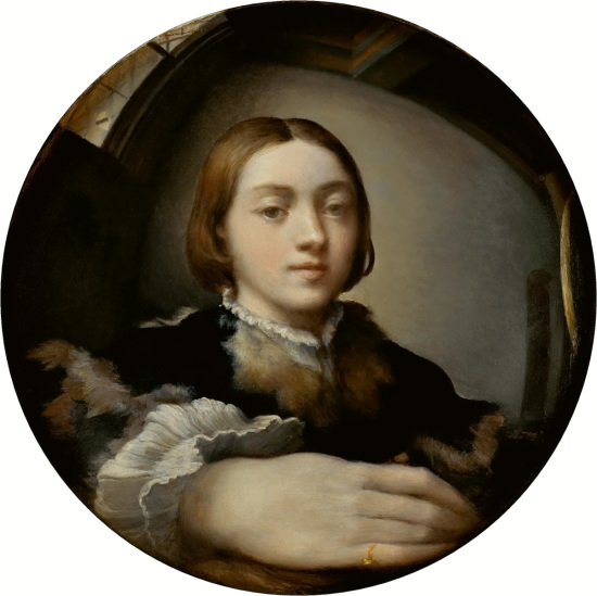 Parmigianino-Self-Portrait-in-a-Convex-Mirror-c.-1524-Oil-on-convex-panel-Kunsthistorisches-Museum-Vienna
