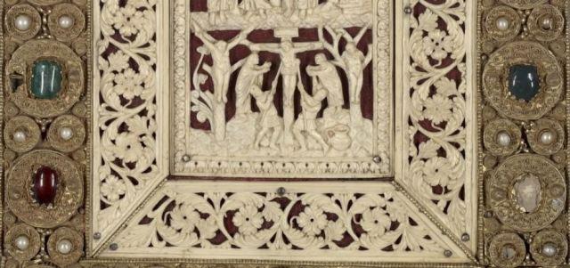 Reliure des Evangiles de Drogon Metz, 845-855. BnF