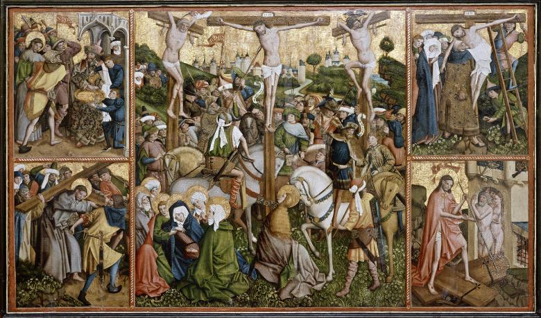Retable de Haldern, panneau central, maitre de Schoppingen 1450-70 Westfalisches Landesmuseum fur Kunst und KulturgeschichteMunster