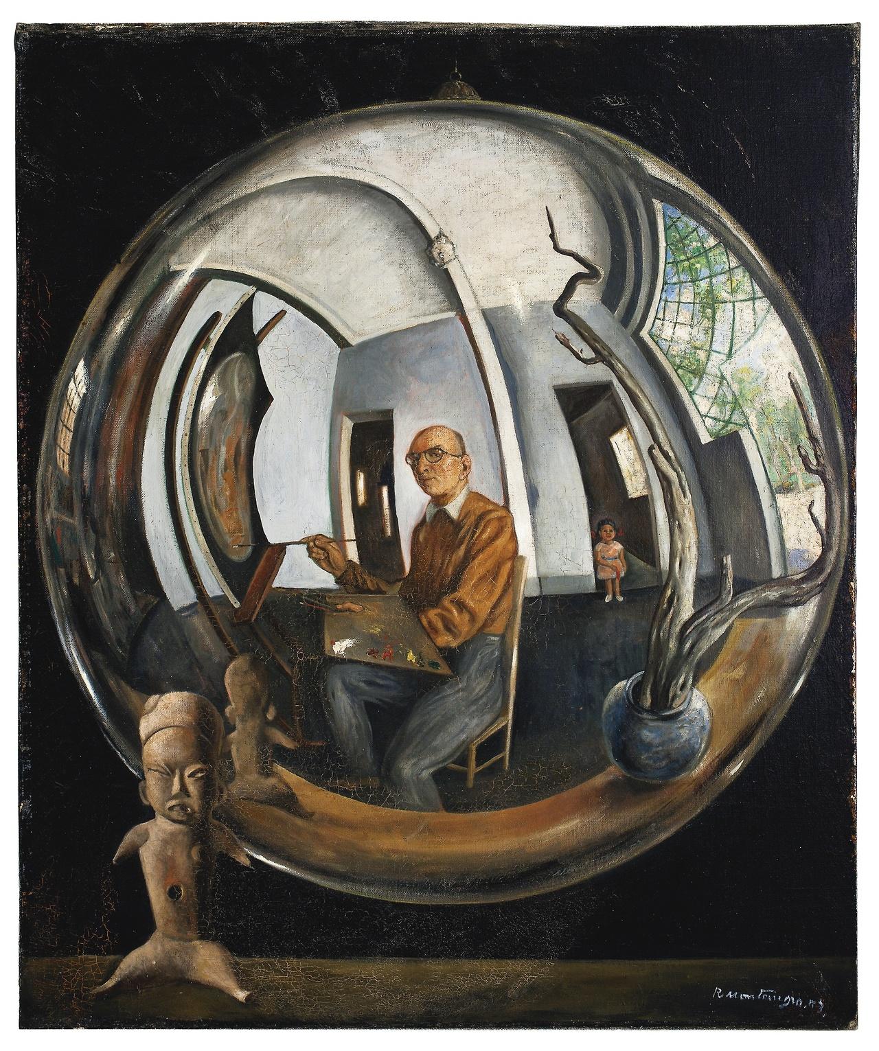 Roberto MONTENEGRO 1953 autoportrait dans une sphere