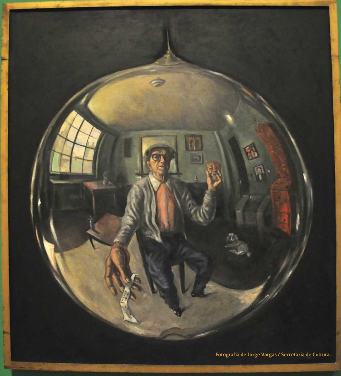 Roberto MONTENEGRO 1959 autoportrait dans une sphere
