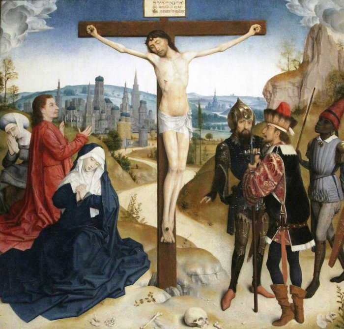 Simon Marmion 1470s Crucifixion Philadelphie, Museum of Art
