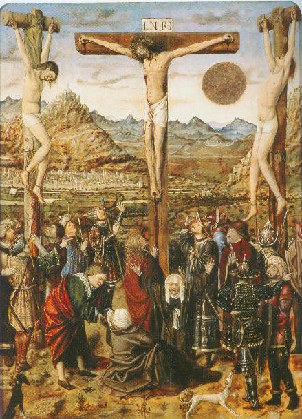 The-Crucifixion-1435-1445-Franco-Flemish-Master Thyssen Bornemisza