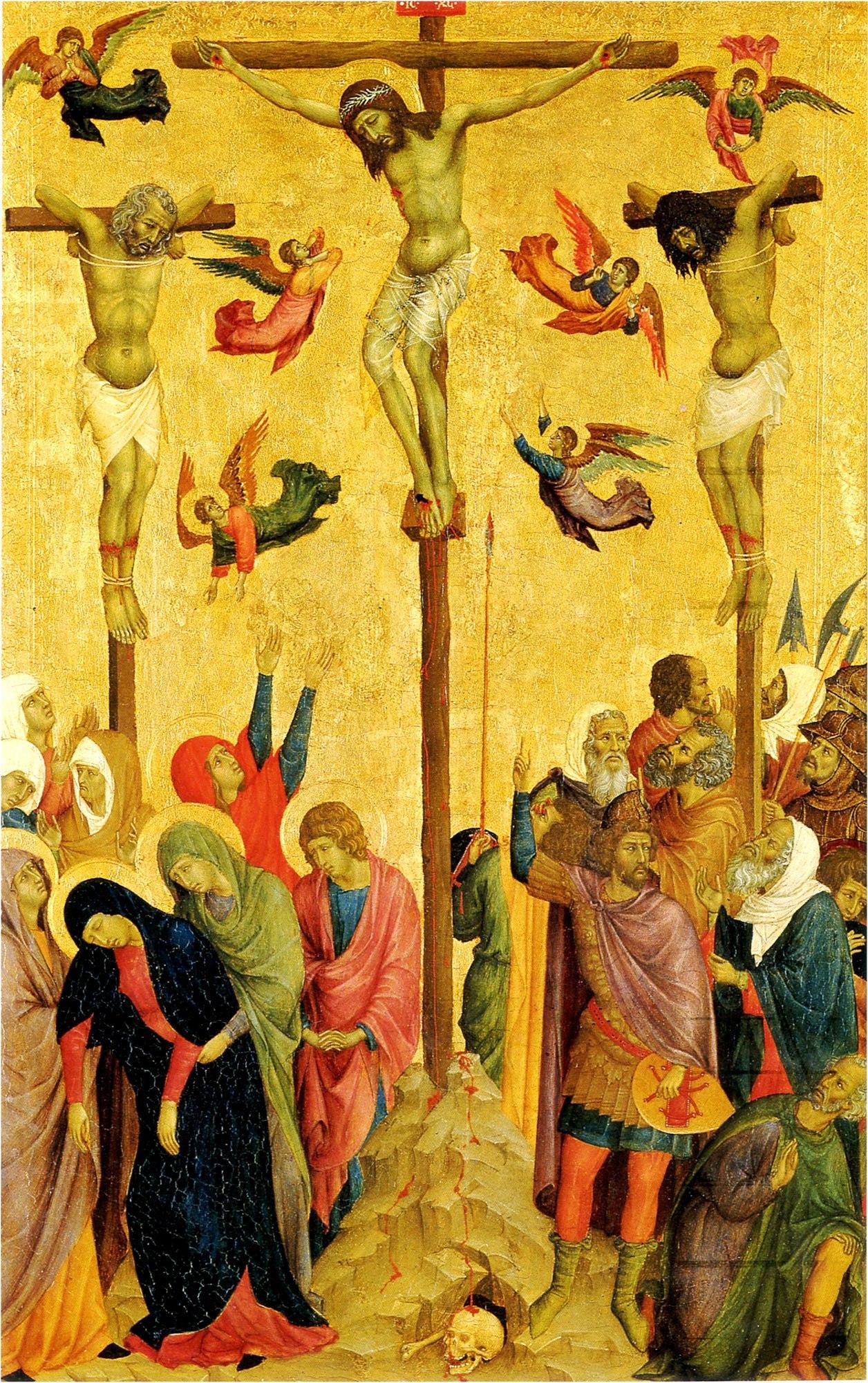 The-Crucifixion- Crawford et Balcarres, master of citta di castello vers 1320 Manchester, City Art Gallery