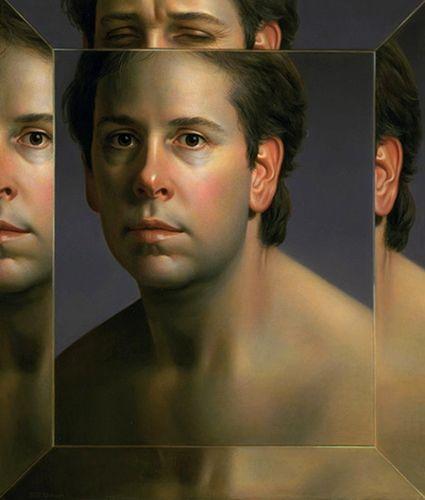 Will Wilson 2004 Autoportrait dans un miroir biseaute