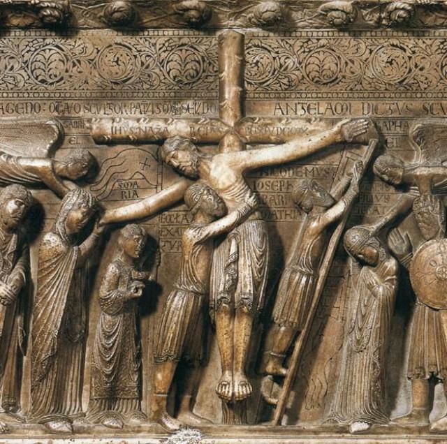 Benedetto ANTELAMI - descente de croix (marbre)