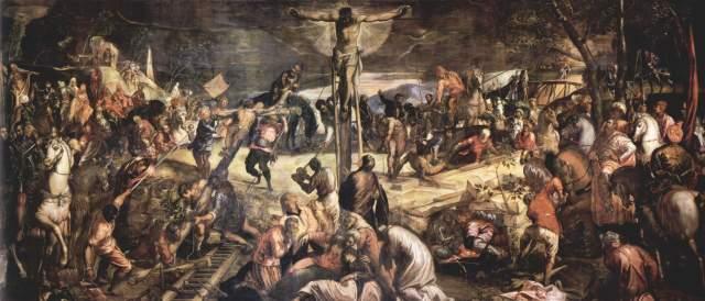 crucifixion-Tintoret 1565 Scuola Grande di San Rocco, Venice