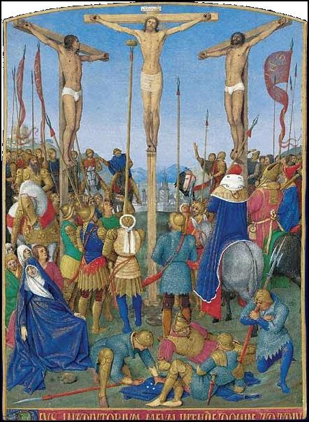 fouquet Livre heures Etienne Chevalier crucifixion 1452-1460 Musee Conde Chantilly