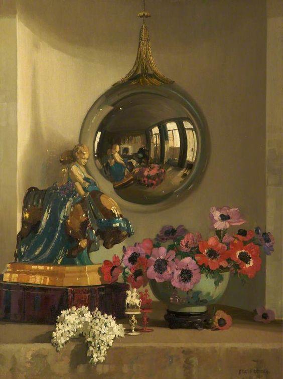herbert davis richter Reflections in a silver ball, c.1932 rochdale arts heritage service