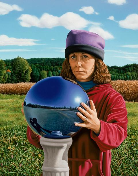 robin-freedenfeld-self-portrait-with-garden-globe