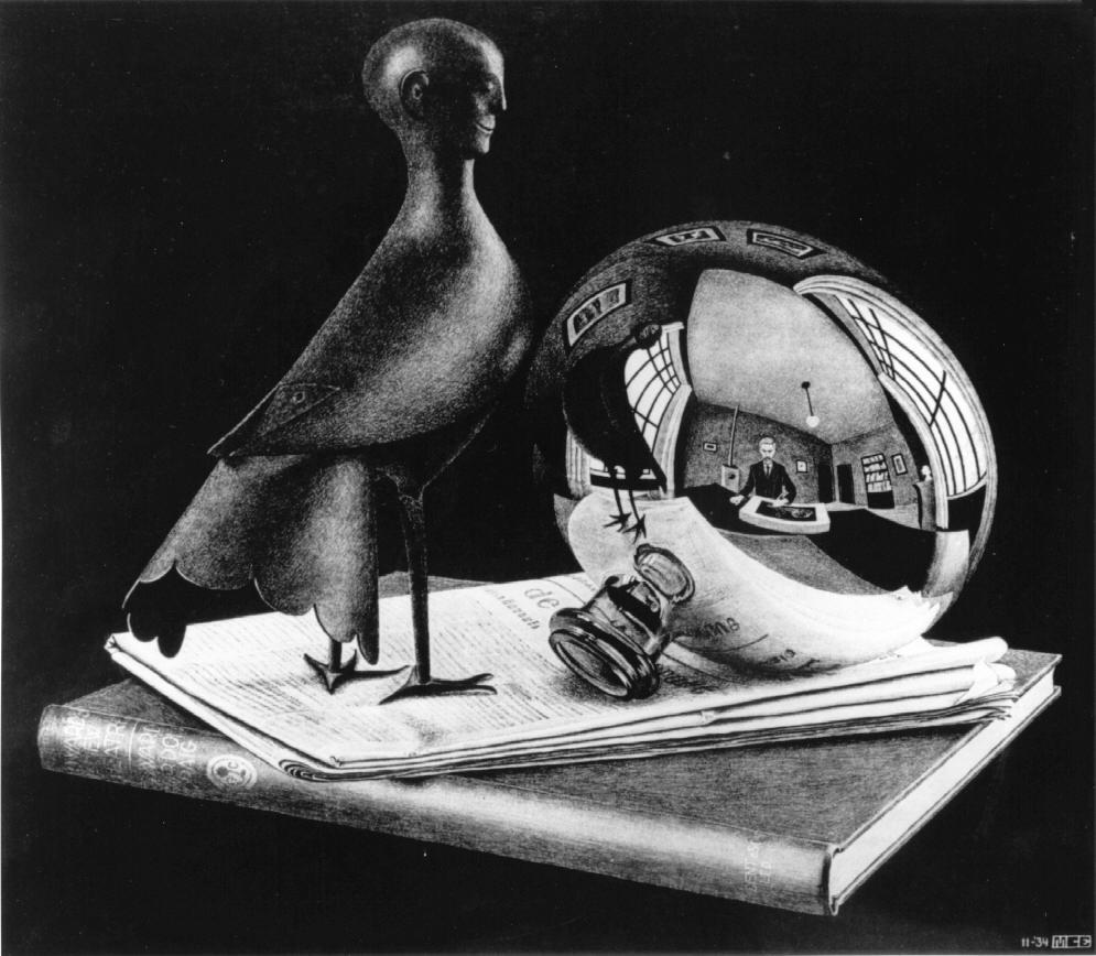 viesurmiroirspherique1934lithographie