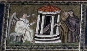 800px-Ravenna,_sant'apollinare_nuovo,_int.,_storie_cristologiche,_epoca_di_teodorico_13_marie_al_sepolcro