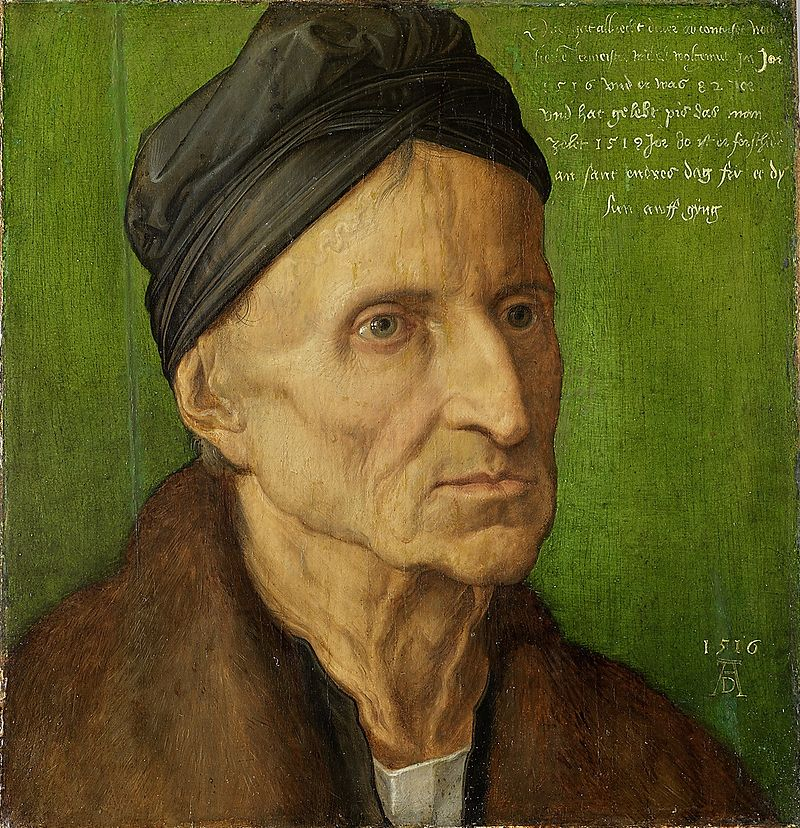 Albrecht_Durer Portrait de Wolgemut 1516 Germanisches Nationalmuseum, Nurnberg