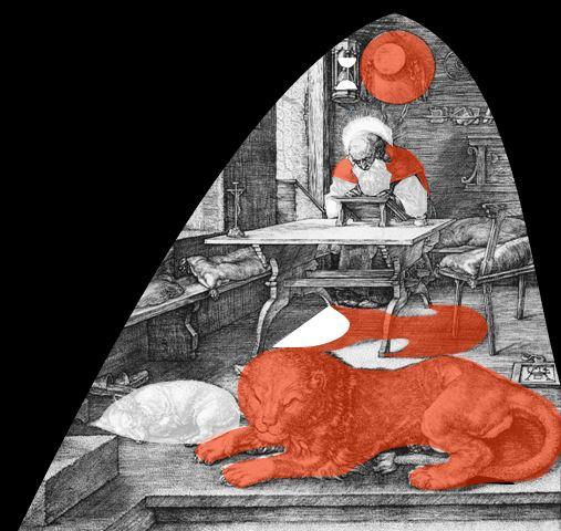 Durer 1514 Saint Jerome dans son etude MERCURE SOUFRE