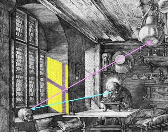 Durer 1514 Saint Jerome dans son etude deux visions