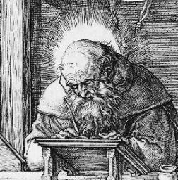 Durer 1514 Saint Jerome dans son etude tete Jerome