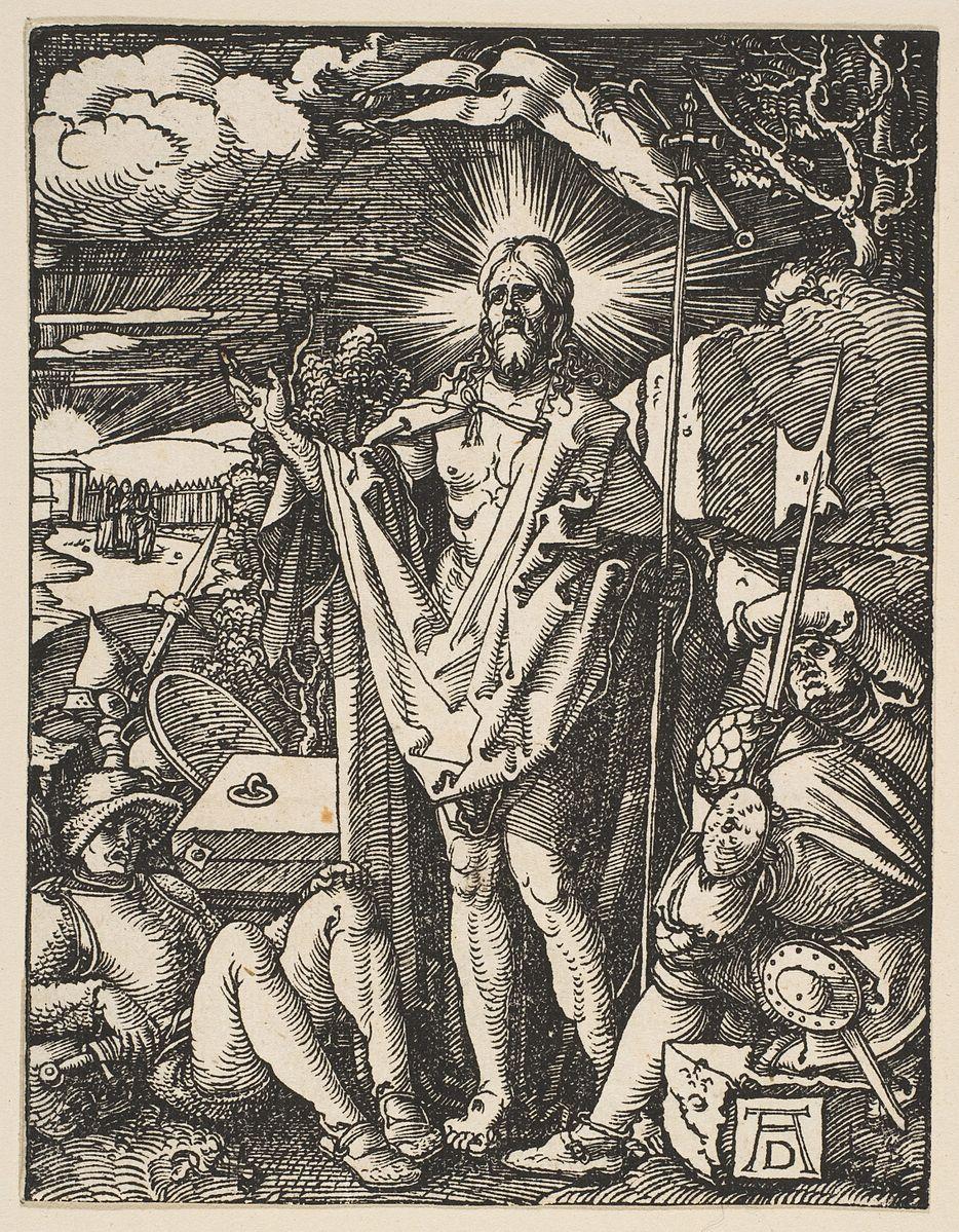 Durer BD 04 Resurrection Petite Passion sur bois 1509