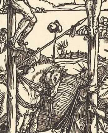 Durer BD 07 Compas Calvary with the Three Crosses 1504-05