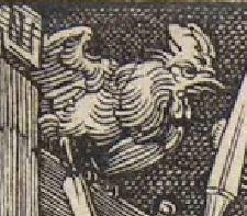 Durer BD 13 Coq Messe de St Gregoire 1511