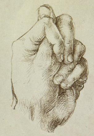 Durer Etude de main Vienne, Albertina, 1496