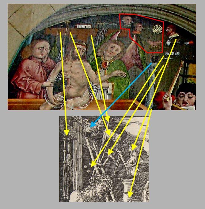 Durer Messe de St Gregoire 1511 comparaison arma