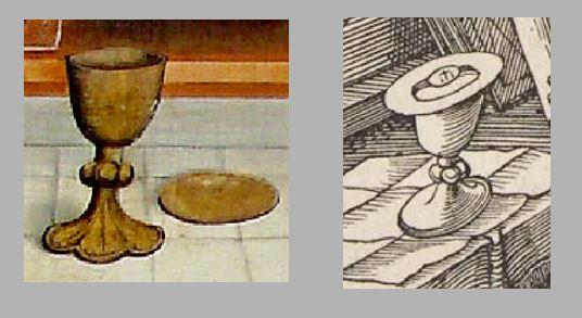 Durer Messe de St Gregoire 1511 comparaison calice