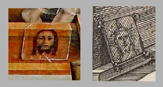 Durer Messe de St Gregoire 1511 comparaison face