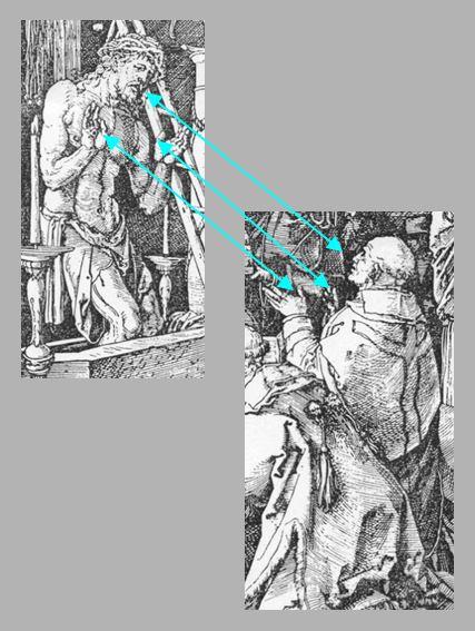 Durer Messe de St Gregoire 1511 effet miroir