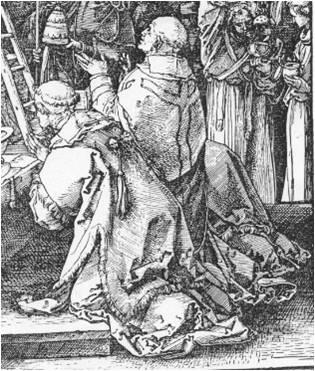 Durer Messe de St Gregoire 1511 pape