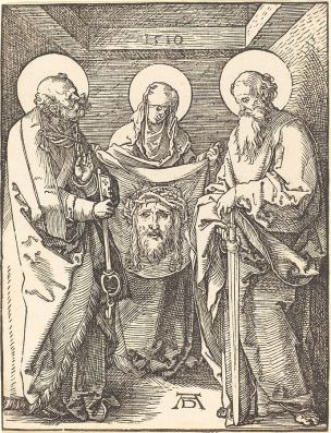 Durer_-_Saint_Veronica_between_Saints_Peter_and_Paul_1510