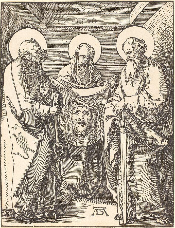 Durer_-_Saint_Veronica_between_Saints_Peter_and_Paul_1510