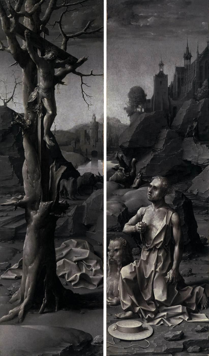 Jan Gossaert (Mabuse) - Saint Jerome Penitent. c.1509-1512