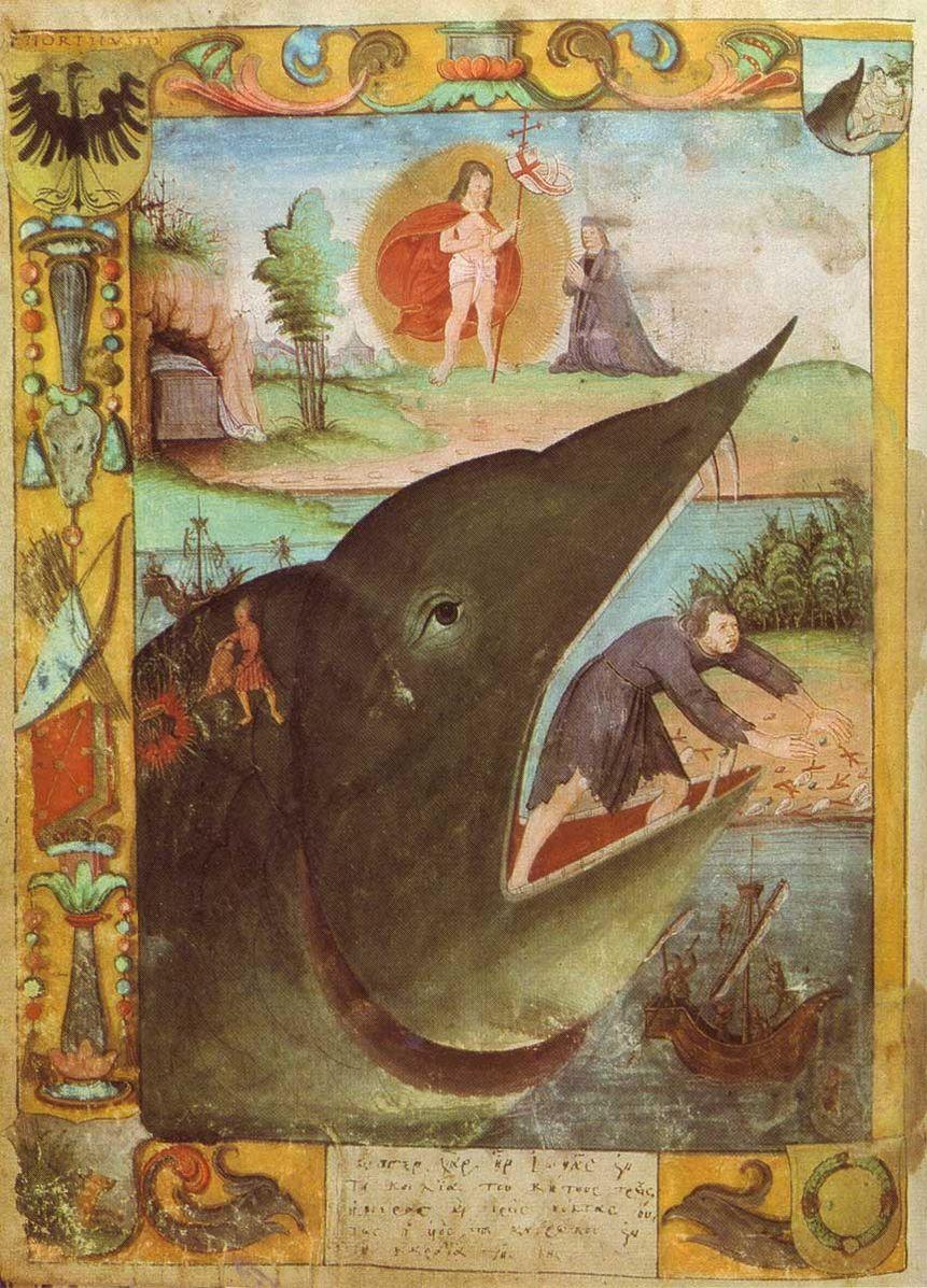 Jonas und der Wal, Armoiries de Justus Jonas Universitatsmatrikel Erfurt