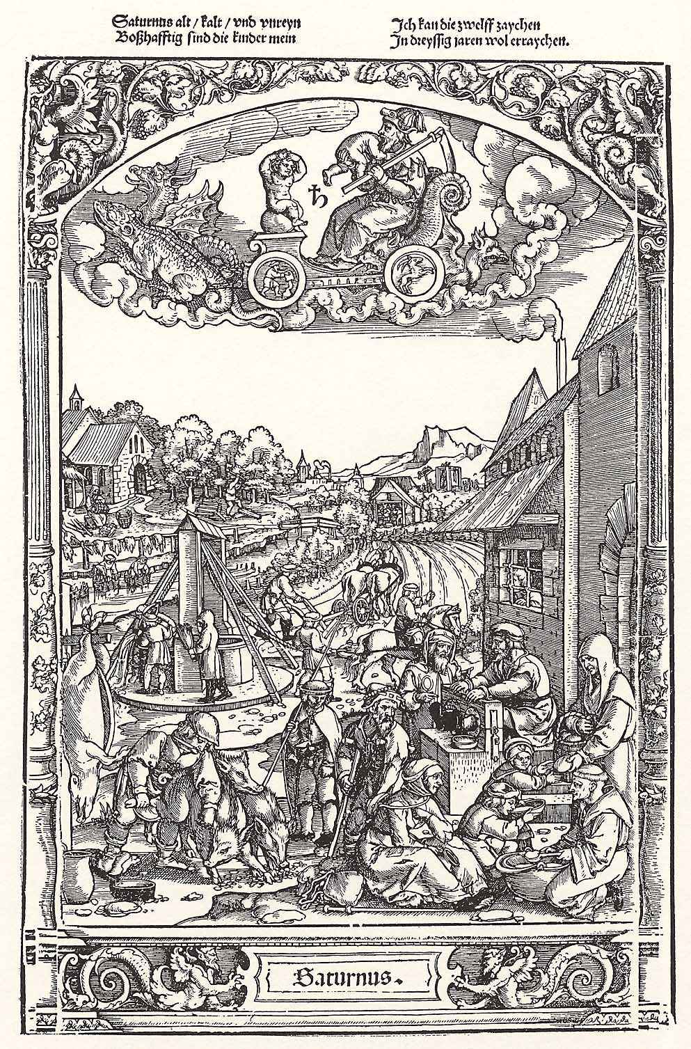 Life of the Children of Saturn, by Georg Pencz in the Folge der Planeten 1530