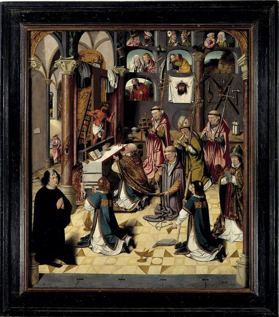 Mass of Saint Gregory by Meester van de Levensbron 1500-1510 Museum Catharijneconvent, Utrecht ,