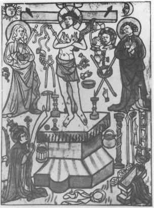 Messe de St Geregoire Gravure sur bois 1410-30
